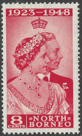 North Borneo. 1948 Royal Silver Wedding. 8c MH SG 350 - Bornéo Du Nord (...-1963)