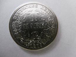 1 Mark Deutsches Reich 1875 F  Kaiserreich Orginal Echt Umlauf SILBER Zust.s.Foto  Selten - 1 Mark