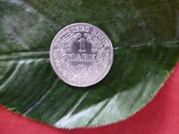 1 Mark Deutsches Reich 1876 D  Kaiserreich Orginal Echt Umlauf SILBER Zust.s.Foto  Selten - 1 Mark