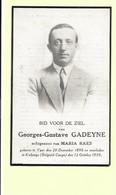 Doodsprentje - Georges-Gustave Gadeyne - Ieper 1896 - Kakenge 1930 Met Foto. - Devotion Images