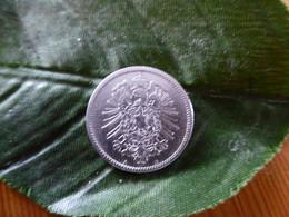 1 Mark Deutsches Reich 1877 A  Kaiserreich Orginal Echt Umlauf SILBER Zust.s.Foto  Selten - 1 Mark