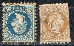 Levante Austriaco 1867,  10 Y 15 S, Yvert Num 4 Y 5 º - Eastern Austria