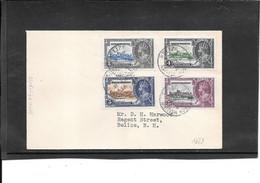 British Honduras 1935, Silver Jubilee On Cover  (Ref 2658) - British Honduras (...-1970)