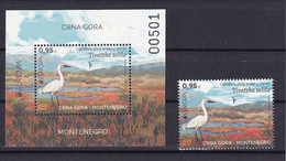 MONTENEGRO 2021,EUROPA CEPT ,BIRDS,BLOCK+1V,ROMANA PEHAR,MNH - Non Classificati