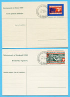 2 Karten Internement En Suisse 1940 - Dokumente