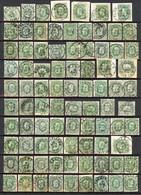 133 Zegels N°30 Met EC, Meestal Goed Leesbare Stempels Van Mooi Tot Zeermooi - 1869-1883 Leopold II