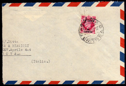 OCCUPAZIONI STRANIERE ERITREA 29 12 1951 B. A. CENT. 65c SU 8p BA COVER LETTERA - Eritrea