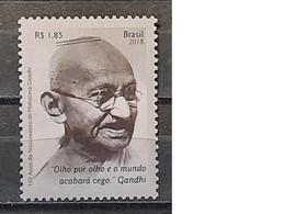 2019 - Brasil - MNH As Scan - 150th Anniversary Birth Mahatma Gandhi - 1 Stamp - Mahatma Gandhi