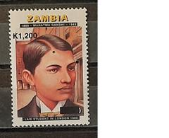 2019 - Zambia - MNH As Scan - 150th Anniversary Birth Mahatma Gandhi - 1 Stamp - Mahatma Gandhi