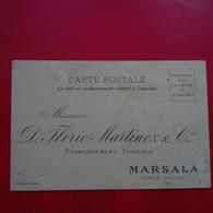 MARSALA SICILE ETABLISSEMENT VINICOLE FLORIO MARTINEZ 1893 - Marsala