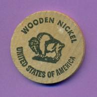 Jeton Publicitaire En Bois Wooden Nickel - Venice Beach Usa - Diamètre 38 Mm - R/V - Other