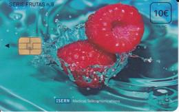 ISN-099 TARJETA DE ESPAÑA DE ISERN, SERIE FRUTAS Nº9 (FRUIT-FRAMBUESA) - Alimentazioni