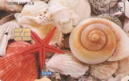 ISN-098 TARJETA DE ISERN DE 10 EUROS SERIE MAR Nº9 CARACOLAS Y ESTRELLA DE MAR-CARACOLA - Non Classificati
