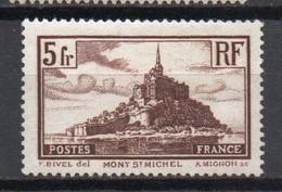 - FRANCE N° 260 Neuf ** MNH - 5 F. Mont-Saint-Michel 1929-31 - Cote 45,00 € - - Nuevos