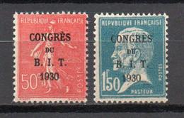 - FRANCE N° 264/65 Neufs ** MNH - 2 Valeurs CONGRÈS DU B.I.T. 1930 - Cote 55,00 € - - Nuevos