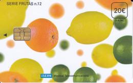 ISN-102 TARJETA DE ESPAÑA DE ISERN, SERIE FRUTAS Nº12 (FRUIT-FRUTAS) - Alimentazioni