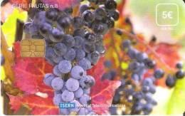 TARJETA DE ESPAÑA DE ISERN, SERIE FRUTAS Nº8 (VIÑA CON UVA NEGRA) - Alimentazioni