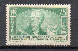 - FRANCE N° 303 Neuf ** MNH - 75 C. BENJAMIN DELESSERT 1935 - Cote 60,00 € - - Nuevos
