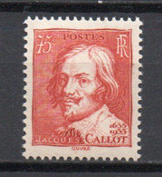 - FRANCE N° 306 Neuf ** MNH - 75 C. JACQUES CALLOT 1935 - Cote 22,00 € - - Nuevos