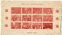 """FRANCE BLOC DE 12 VIGNETTES """" AIDE AUX INTELLECTUELS PARIS 1943 """" - Blocs & Carnets"""