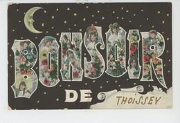"""THOISSEY - Jolie Carte Fantaisie Lune Humanisée Et Portrait Femmes & Fleurs Dans Lettres De """"Bonsoir De THOISSEY """" - Other Municipalities"""