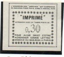 ColBM France Greve Bas Rhin Neuf XX MNH  Cote 35,00 Euro - Huelga