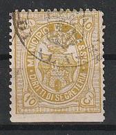 Alassio. 1898 - 05. Marca Municipale (marca Comunale) Diritti Di Segreteria C. 10 Verde Oliva. RARA. - Autres