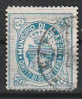 Alassio. 1898 - 05. Marca Municipale (marca Comunale) Diritti Di Segreteria C. 20 Blue. RARA. - Autres