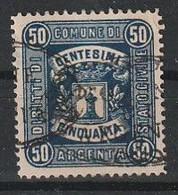 Argenta. 1885 - 90. Marca Municipale (marca Comunale) Diritti Di Stato Civile C. 50 Bleu Scuro. RARA. - Autres