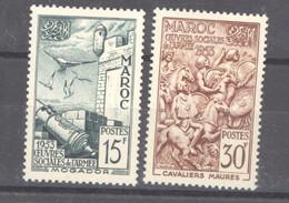 Maroc  :  Yv  325-26   ** - Unused Stamps