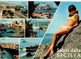 SALUTI DALLA SICILIA - MESSINA - TAORMNA - CATANIA - SIRACUSA - GELA - LICATA (SICILIA) - Unclassified