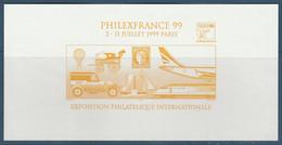 Yt  30 VIGNETTE OFFICIELLE PHILEXFRANCE 99 - Jaune - Expositions Philatéliques