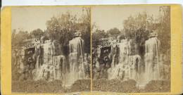 PHOTO STÉRÉOSCOPIQUE - MARSEILLE - Cascade Du Jardin Zoologique - Photos Stéréoscopiques