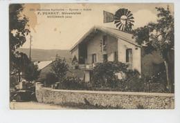 HOTONNES - F. PERRET , Mécanicien - MACHINES AGRICOLES - CYCLES - AUTOS - Otros Municipios