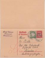 Bayern - 10/10 Pfg. Hupp/Freistaat Ganzsache + Zusatz Oberammergau München 1920 - Bavaria