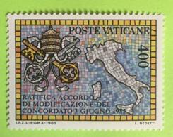 1985 - Vaticano - Ratifica Accordo Di Modifica Del Concordato - Nuovo - Nuovi