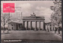 Germany DDR MC 665, Maximumkarte Mit 20 Pf. Berlin Brandenburger Tor, SoSt. 29.11.58 Vom Ersttag - Maximumkarten (MC)