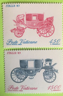 1985 - Vaticano - Carrozze Del Vaticano  - Serie Due Valori - Nuovi - Nuovi
