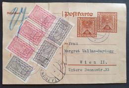 Österreich 1922, Postkarte P256 MiF WIEN 22.XII.22 - Brieven En Documenten