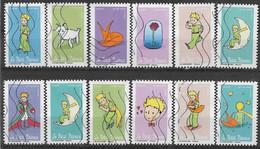 2021 FRANCE Adhesif 2001-12 Oblitérés ,petit Prince, Série Complète - Sellos Autoadhesivos