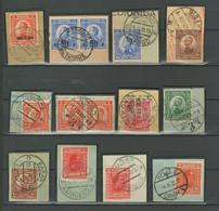 Yugoslavia Kingdom 1921/25 ☀ Croatien Cancels - Cuts - Usati