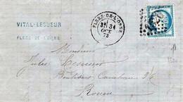 France LAC Vital Lesueur Losange GC 1520 Flers De L'Orne 31/10/73 / YT 60A - 1871-1875 Ceres