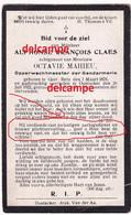 Oorlog Guerre Alphonse Claes Geetbetz Opperwachtmeester Rijkswacht OUDSTRIJDER 1914 1918 Ovl Oostakker 1922 - Images Religieuses