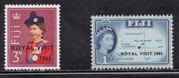FIJI Scott # 196-7 MH - QEII Royal Visit With Overprint - Fiji (...-1970)