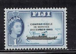 FIJI Scott # 205 MH - QEII COMPAC Cable Overprint - Fiji (...-1970)