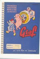 PR 180 /  PROTEGE CAHIER -  GRAF   FROMAGES SAUCISSONS PATE JAMBONS     ( 24,00 Cm X 18,00 Cm) - Protège-cahiers