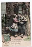 BERGERET - VINCENT Et SUZON - N° 4  - MAN & WOMAN - USED 1907 - FRANCE - Bergeret