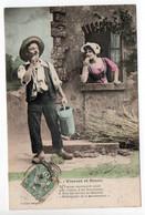 BERGERET - VINCENT Et SUZON - N° 5  - MAN & WOMAN - USED 1907 - FRANCE - Bergeret