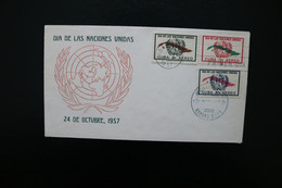 Cuba United Nations Day Day Of Issue Cancel 1957 A04s - Covers & Documents
