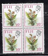 FIJI Scott # 312 MH Block - QEII & Flower - Fiji (...-1970)